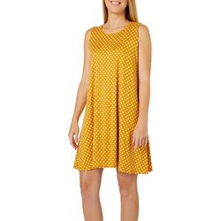 Allison Brittney Womens Polka Dot Sleeveless Sundress