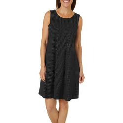 Allison Brittney Womens Polka Dot Yummy Swing Dress
