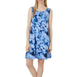 Allison Brittney Womens Tie Dye Yummy Swing Dress