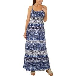Allison Brittney Womens Leopard Print Maxi Dress