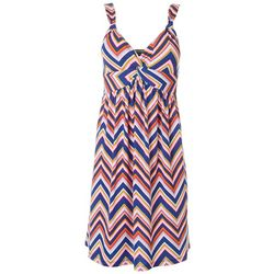 Allison Brittney Womens Nautical Rope Twist Front Dress