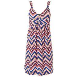 Allison Brittney Womens Chevron Twist Front Dress
