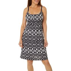 Allison Brittney Womens Ikat Print Tie Back Dress