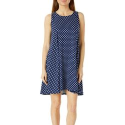 Allison Brittney Womens Polka Dot Print Yummy Swing Dress