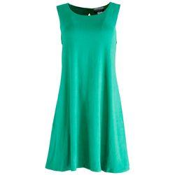 Allison Brittney Womens Solid Sleevless Sun Dress