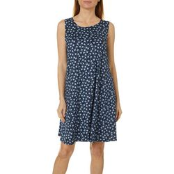Allison Brittney Womens Daisy Print Yummy Swing Dress