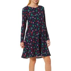 Allison Brittney Womens Florida Christmas Swing Dress