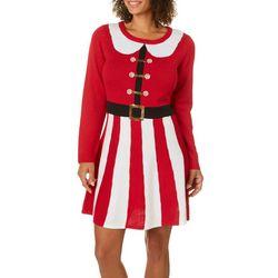 Allison Brittney Womens Mrs. Claus Sweater Dress Set