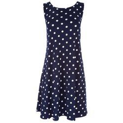 Allison Brittney Womens Vintage Polka Dot Sun Dress