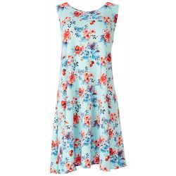 Allison Brittney Womens Floral Dress