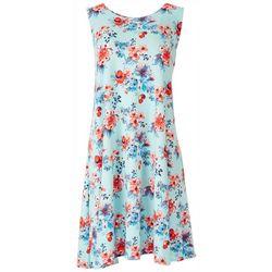 Allison Brittney Womens Floral Dress