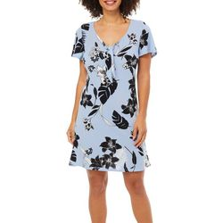 Harlow and Rose Womens Tropical Floral Tie Neck Sundress