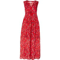 Beach Lunch Lounge Womens Floral Maxi Dress