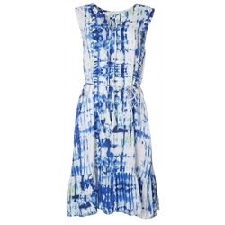 Beach Lunch Lounge Womens Tie Dye Maxi Dress