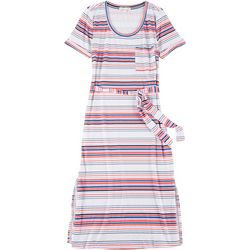 C&C California Womens Striped Katie Maxi Dress