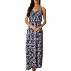 Naif Womens Sleeveless Geometric Print Maxi Dress