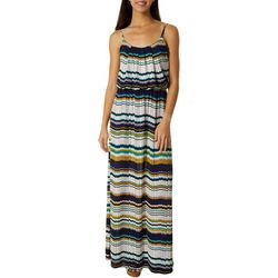Naif Womens Sleeveless Stripe Maxi Dress