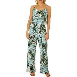 Naif Womens Sleeveless Tropical Jumpsuit