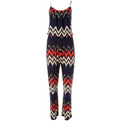 Naif Womens Chevron Print Sleeveless Jumpsuit