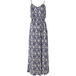 Naif Womens Geometric Print Button Down Maxi Dress