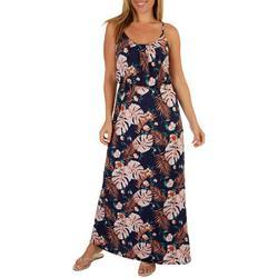 Late August Womens Tropical Print Maxi Dress