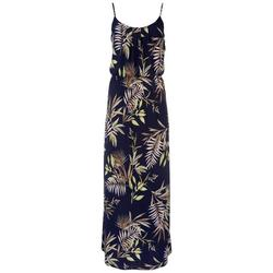 Womens Spaghetti Strap Palms Maxi Dress