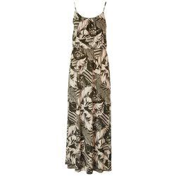 NAIF Late August Womens Leaf Print Maxi Dress