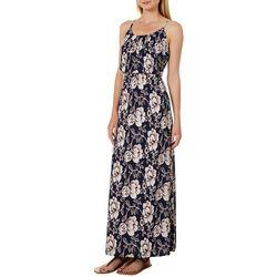 NAIF Womens Mixed Floral Print Maxi Dress