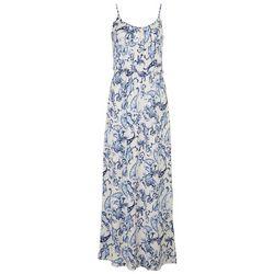 Naif Womens Dainty Floral Print Button Down Maxi Dress