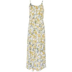 Womens Dainty Floral Print Button Down Maxi Dress