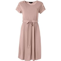 Naif Womens Grommet Embellished Dress
