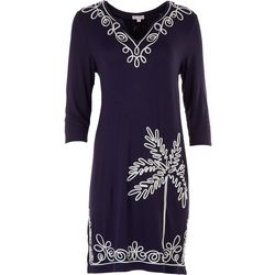 Cabana Cay Womens Embroidered Dress