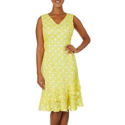 Lapis & Lillies Womens Textured Dot Tie Back Sundress