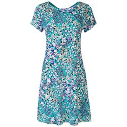Ronni Nicole Womens Floral Printed Dress