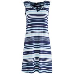 Ronni Nicole Womens Crisscross V-Neck Striped Dress