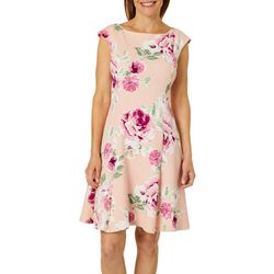 Ronni Nicole Womens Floral Print Sheath Dress