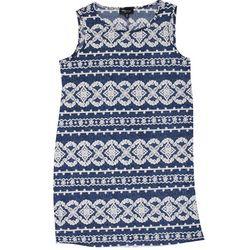 RN Studio Womens Swirl Embroidered Swing Dress