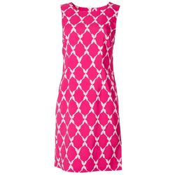 Ronni Nicole Womens Diamond Printed Dress