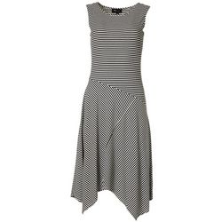 RN Studio Womens Striped Sleeveless Dress