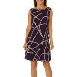 Ronni Nicole Womens Status Print Shift Dress