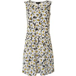 RN Studio Womens Textured Daisy Dress