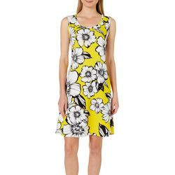 Ronni Nicole Womens Blooming Floral Shift Dress