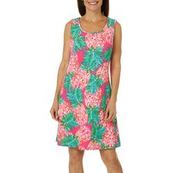Ronni Nicole Womens Pineapple Print Shift Dress