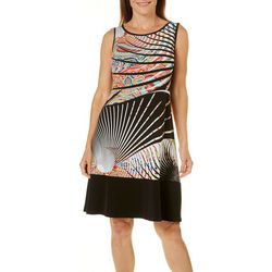 Ronni Nicole Womens Abstract Solid Hem Dress