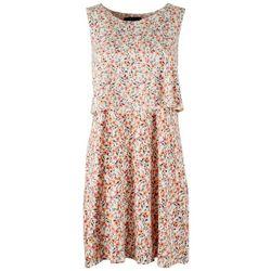 Tiana B Womens Single Tier Dress