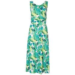 Womens Foliage Midi Dress