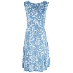Tiana B Womens Summer Days Foliage Dress