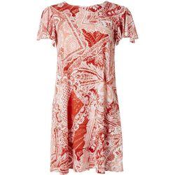 Tiana B. Paisley Embellished T-Shirt Dress