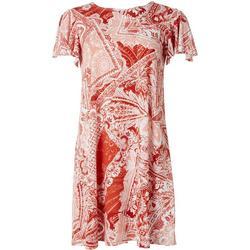 . Paisley Embellished T-Shirt Dress