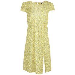 Tiana B. Lemon Midi Cutout Dress